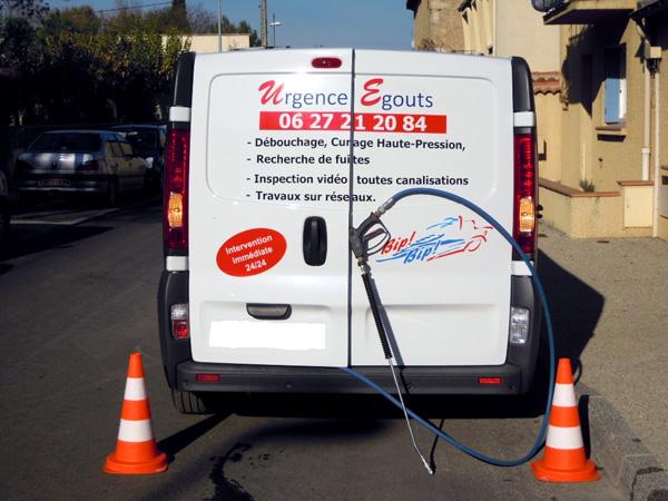 Nettoyage des canalisations à haute pression